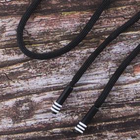 Шнур с декоративным пластик наконечником зебра 130см черный уп 2 шт фото