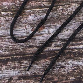 Шнурки круглые 130см черные пара уп 2 шт фото
