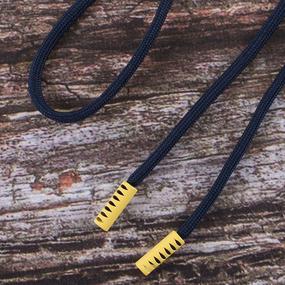 Шнурок 130см темно синий D058 / желтый D001 уп 2 шт фото