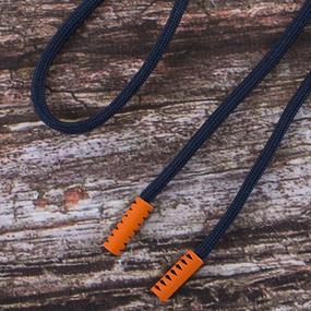 Шнурок 130см темно синий D058 / оранж D006 уп 2 шт фото