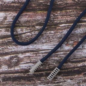 Шнурок 130см темно синий D058 / серый D225 уп 2 шт фото