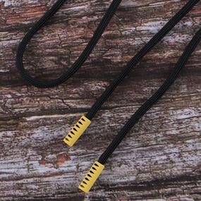 Шнурок 130см черный D580 / желтый D001 уп 2 шт фото
