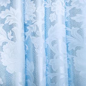 Маломеры портьерная ткань 150 см 17 цвет голубой ветка 1.6 м фото