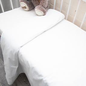 Пододеяльник детский из бязи отбеленной 100 г/м2 эконом, 110х145 см фото
