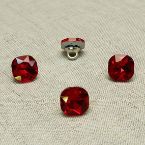 Пуговица ПР64 11мм красный камень уп 50 шт фото