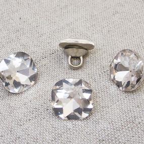 Пуговица ПР64 11мм серебряный камень уп 50 шт фото