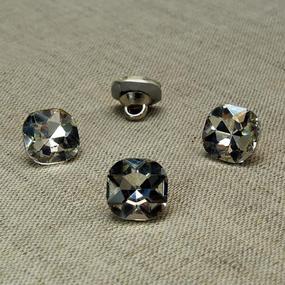 Пуговица ПР64 11мм темное серебро камень уп 50 шт фото
