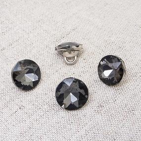 Пуговица ПР64 11мм черный камень уп 50 шт фото