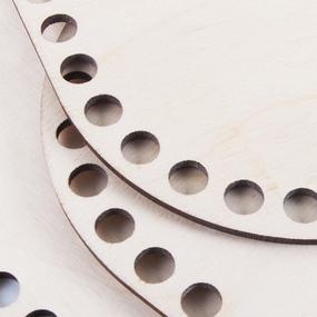 Деревянное донышко для корзин прямоугольник с округлыми краями 20/15 см фото