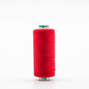 Нитки бытовые Dor Tak 40/2 366м 100% п/э, цв.118 красный фото