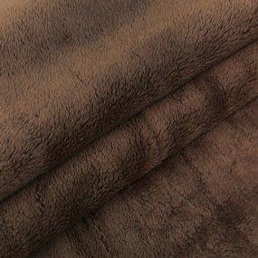 Отрез Плюш Минки гладкий Польша 53/170 см цвет коричневый фото