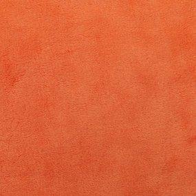 Отрез Плюш Минки гладкий Польша 41/170 см цвет оранжевый фото