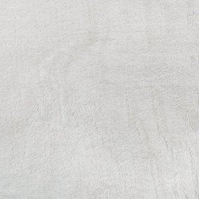 Отрез Плюш Минки гладкий двухсторонний Польша 38/142 см цвет молочный фото