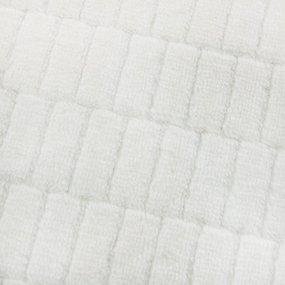 Отрез Плюш Минки Клетка Польша 46/31 см цвет молочный фото