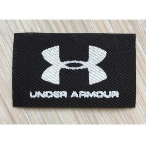 Нашивка Under Armour черная 3*5см фото