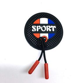 Нашивка силикон Sport декор шнурок 4,5см 1959 фото