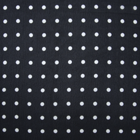 Ткань на отрез шифон 150 см 2297 Горох цвет темно-синий фото