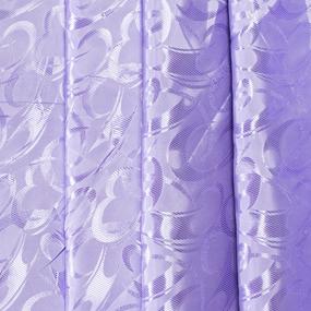 Портьерная ткань 150 см на отрез 19 цвет сиреневый фото