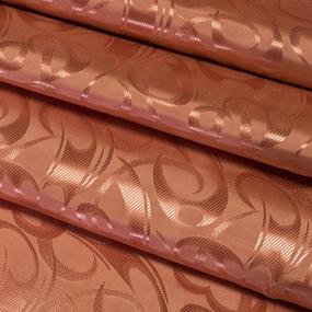 Портьерная ткань 150 см на отрез 16 цвет терракотовый фото