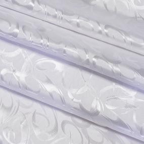 Портьерная ткань 150 см на отрез 27 цвет белый фото