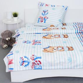 Детское постельное белье 8797/1 Мишка-морячок 1.5 сп перкаль фото