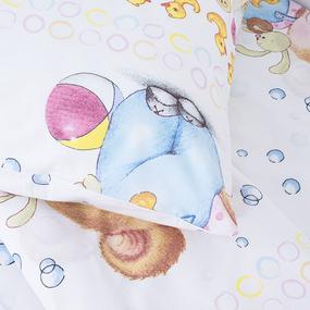 Детское постельное белье 8968/1 Мишка с уточкой 1.5 сп перкаль фото