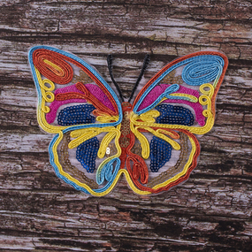 Термоаппликация ТАП 047 бабочка 15*11см фото