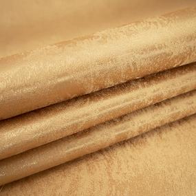 Портьерная ткань 150 см на отрез 100/2С цвет 253/37 золото фото