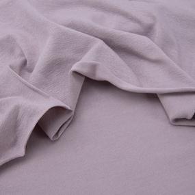Ткань на отрез вискоза с лайкрой цвет светло-фиолетовый фото