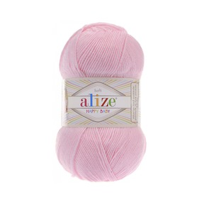 Пряжа ALIZE HAPPY BABY 185 розовый (35% полиамид 65% акрил) фото