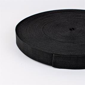 Резинка вязаная 20 мм 40 м цвет черный фото