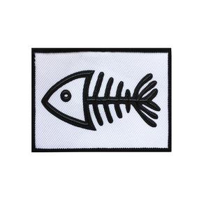 Нашивка Скелет рыбы 8*6см фото