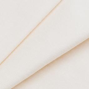 Мерный лоскут кулирка гладкокрашеная карде М-2005 цвет экрю 35/98х2 см фото