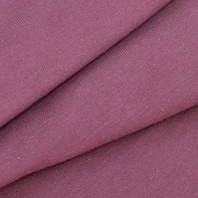 Ткань на отрез кулирка 8063 цвет сливовый фото