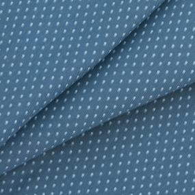 Ткань на отрез кулирка 1001-V6 Горох цвет синий фото