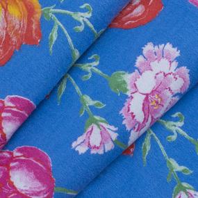 Ткань на отрез фланель 80 см 20012 Тюльпаны на синем фото