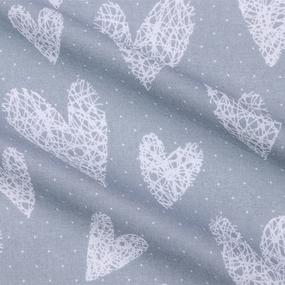 Наволочка бязь детская 7295/2 Сердечки вязаные цвет серый 70/70 см фото