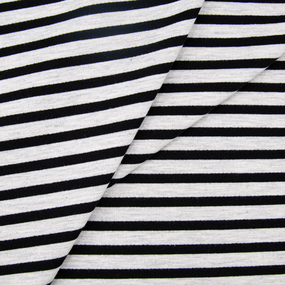 Ткань на отрез футер петля с лайкрой 33-12 Серая полоса фото