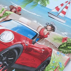 Полотенце вафельное пляжное 30119/1 Сочи 150/75 см фото