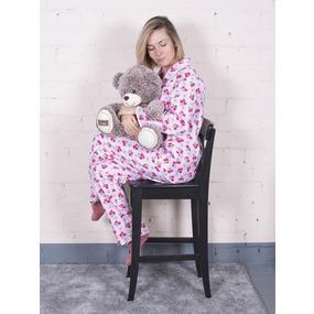 Пижама женская фланель Цветы цвет розовый р 40-42 фото