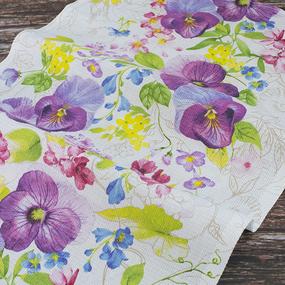 Набор вафельных полотенец 3 шт 50/80 см 30079/1 Виола фото