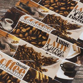 Набор вафельных полотенец 3 шт 50/80 см 5359/1 Кофе фото