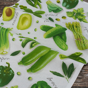 Набор вафельных полотенец 3 шт 50/80 см 5589/1 Овощной микс фото