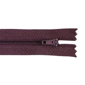 Молния пласт юбочная №3 20 см цвет шоколад фото