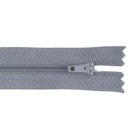 Молния пласт юбочная №3 20 см цвет т-серый фото
