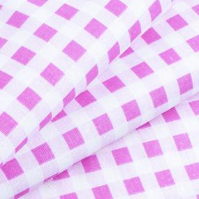 Маломеры бязь плательная 150 см Клетка 1/1см 1551/1 цвет розовый 10 м фото
