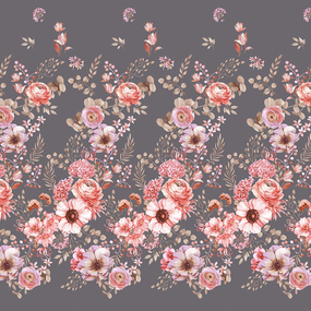 Перкаль 220 см набивной арт 239 Тейково рис 6895 вид 1 Эйфория фото