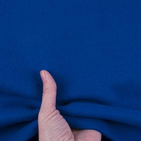 Ткань на отрез флис цвет Василёк фото