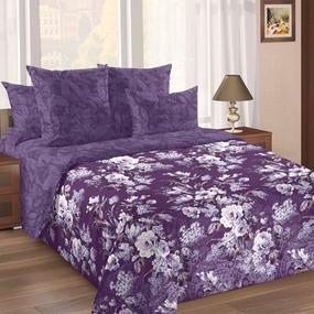 Сатин набивной 220 см 207152 Чародейка компаньон 2 фиолет. фото