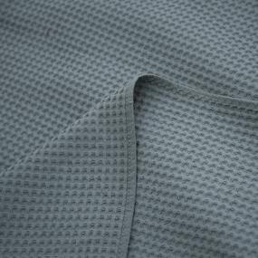 Вафельная накидка на резинке для бани и сауны Премиум мужская с широкой резинкой цвет 976 серый фото